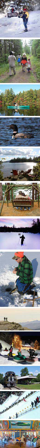 Adirondack Birding Fly Fishing, Boating  Attractions Ski Jouring Cross Country Skiing Snowshoeing