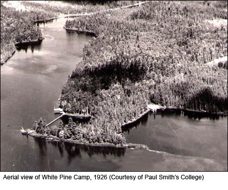 Aerial View of White Pine Camp