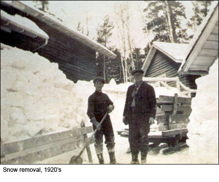 Snow Removal in 1920s